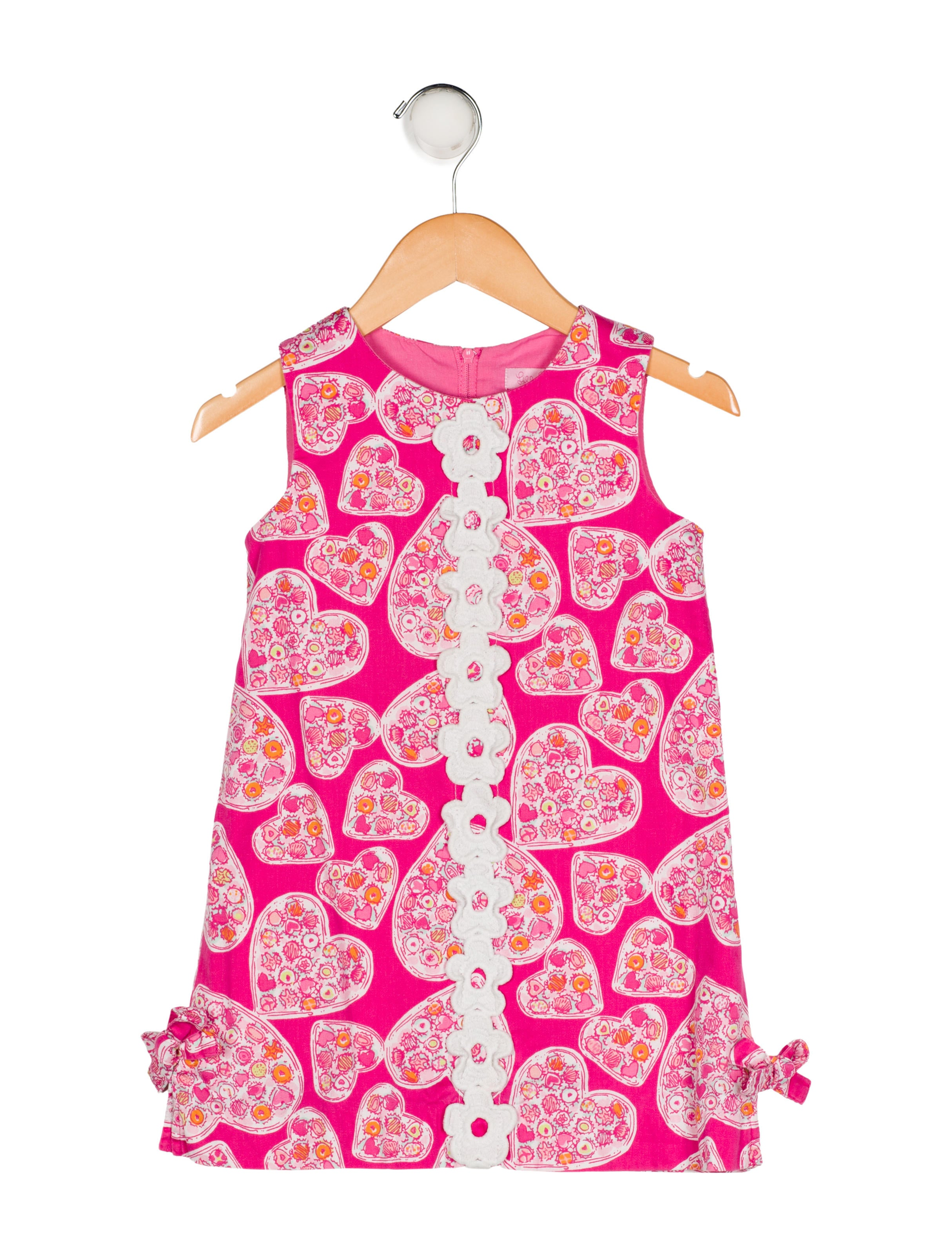 Lilly Pulitzer Girls Printed Appliqué Accented Dress Girls