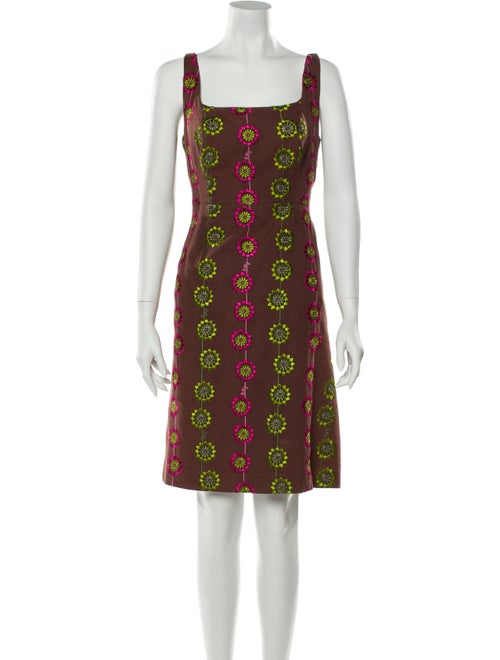Lilly Pulitzer Printed Knee-Length Dress Brown