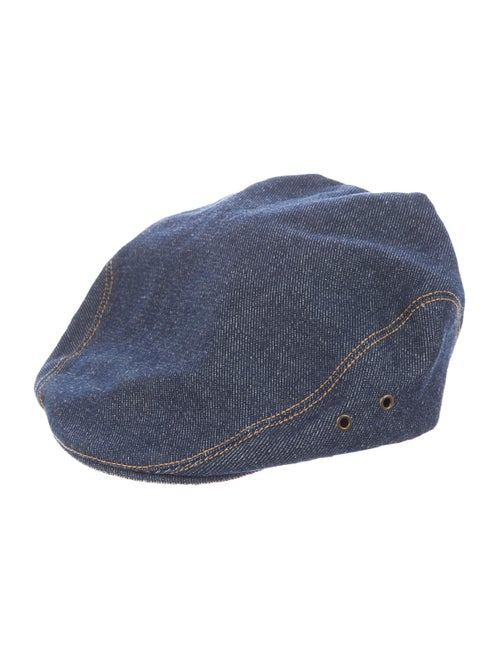Lola Hats Denim Newsboy Hat blue