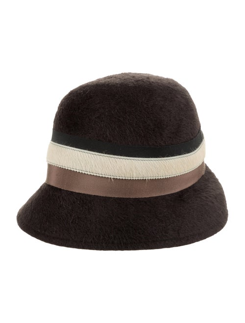Lola Hats Fur Felt Fedora Grey