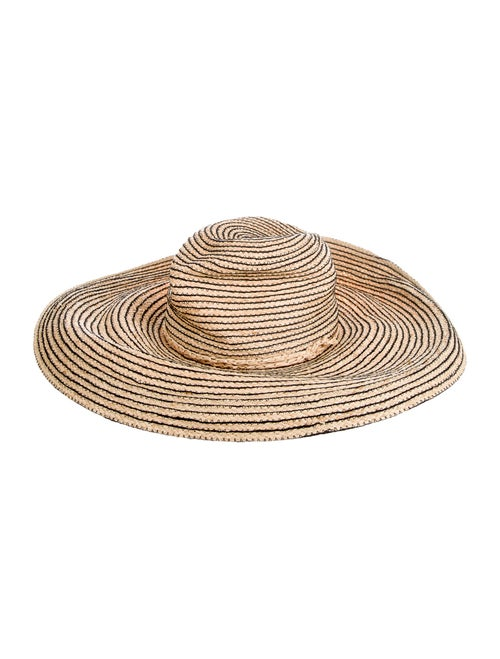 Lola Hats Straw Wide-Brim Hat Tan