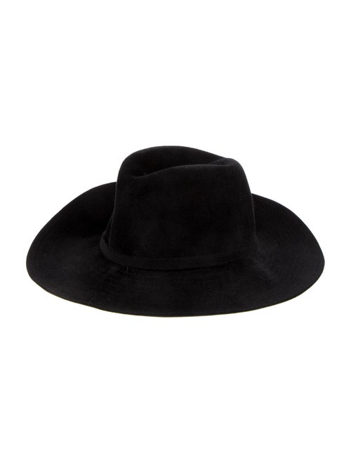 Lola Hats Wide-Brim Fedora Black