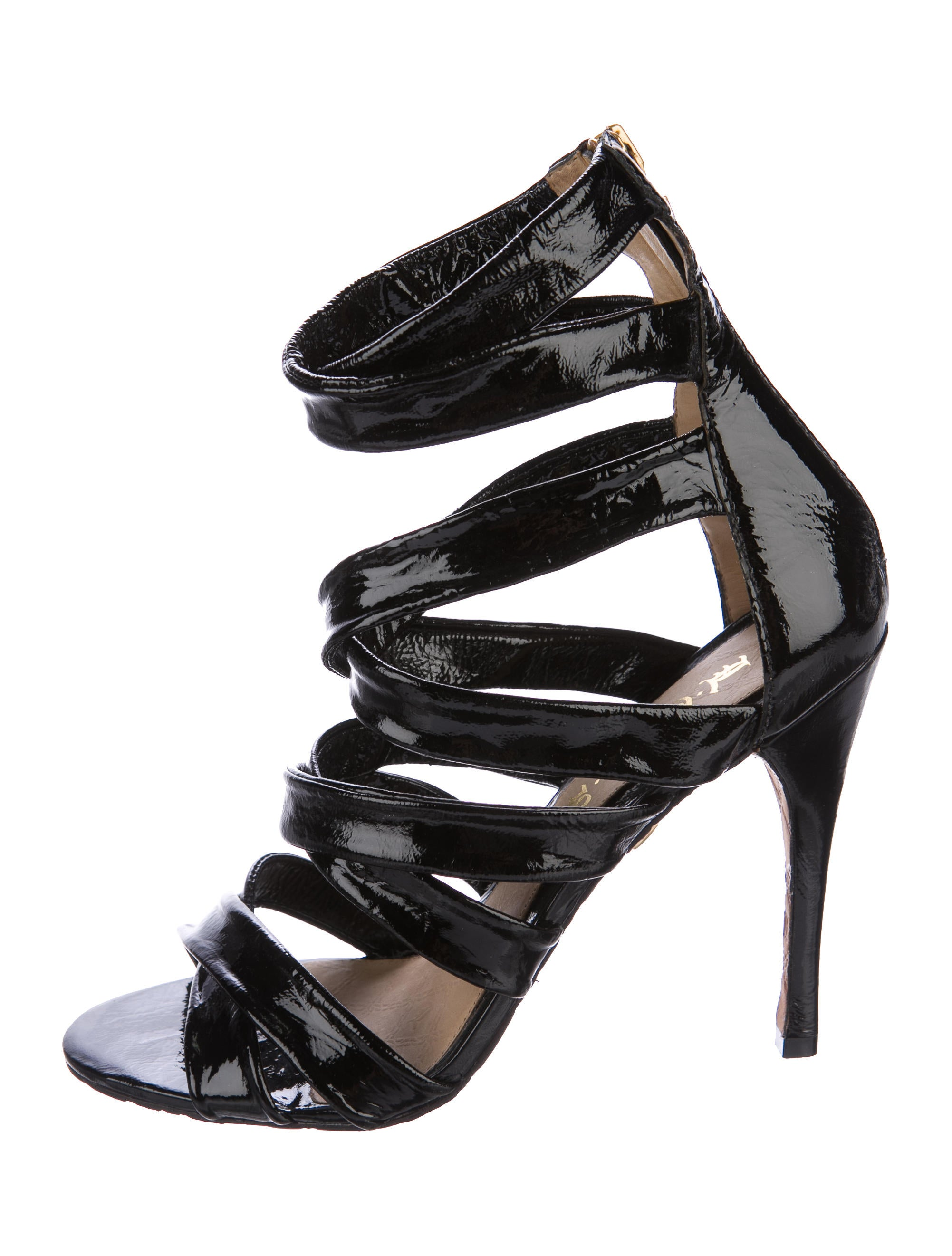 free shipping online LAMB Cage Patent Leather Sandals release dates authentic wYGxH0ARV