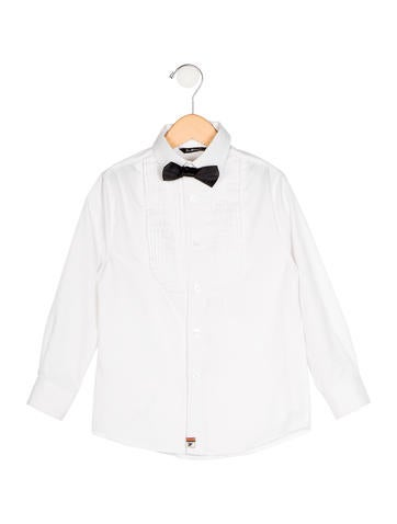 Boys' Bow Tie Button-Up Shirt