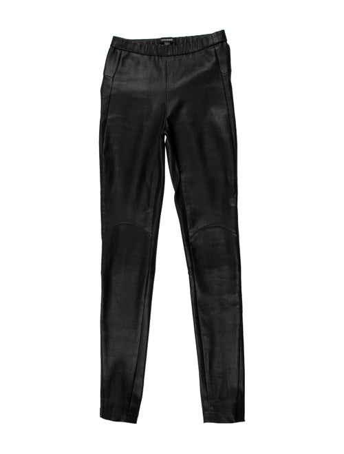 Lamarque Leather Skinny Leg Pants Black