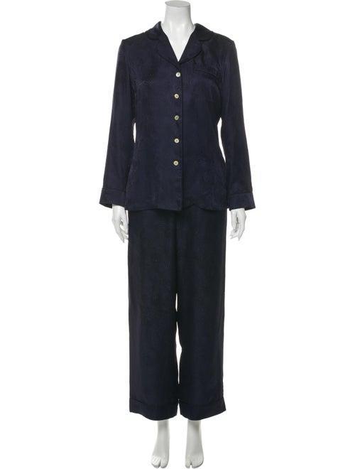 Liberty of London Silk Pajamas Blue