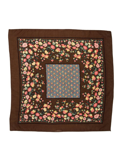 Liberty of London Printed Woven Scarf Brown