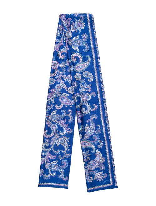 Liberty of London Silk Printed Scarf Blue