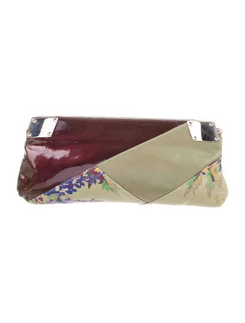 Liberty of London Floral Leather Clutch Green