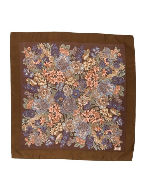 Liberty of London Silk Printed Scarf Brown