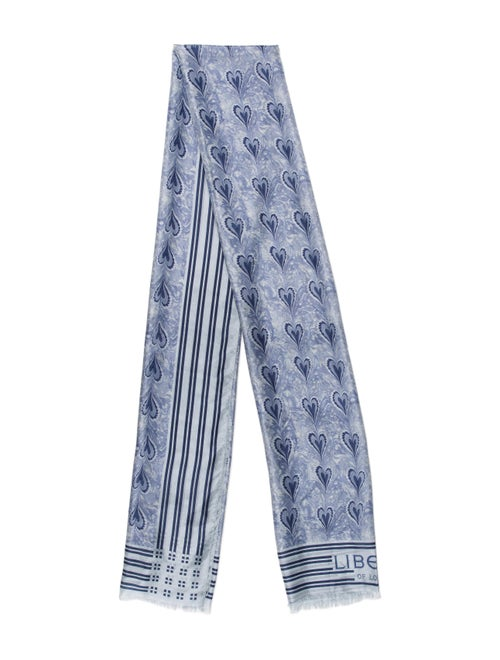 Liberty of London Printed Scarf Blue