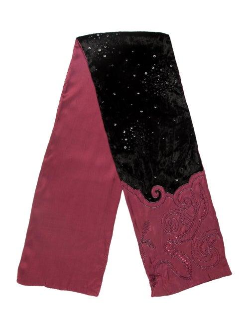 Liberty of London Silk Embellished Scarf Black