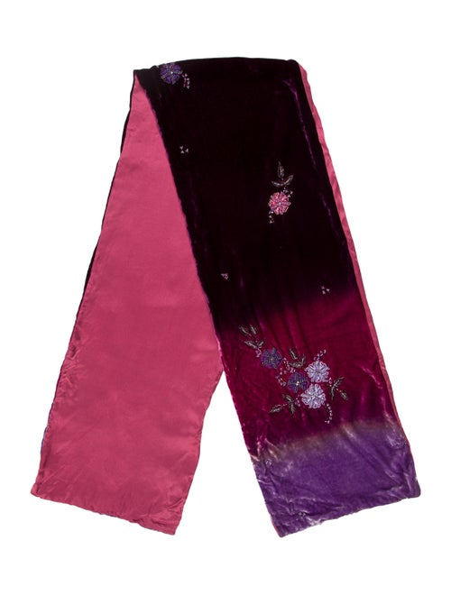 Liberty of London Woven Embellished Scarf Pink