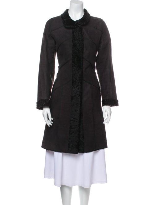 Louis Feraud Broadtail Trench Coat Black