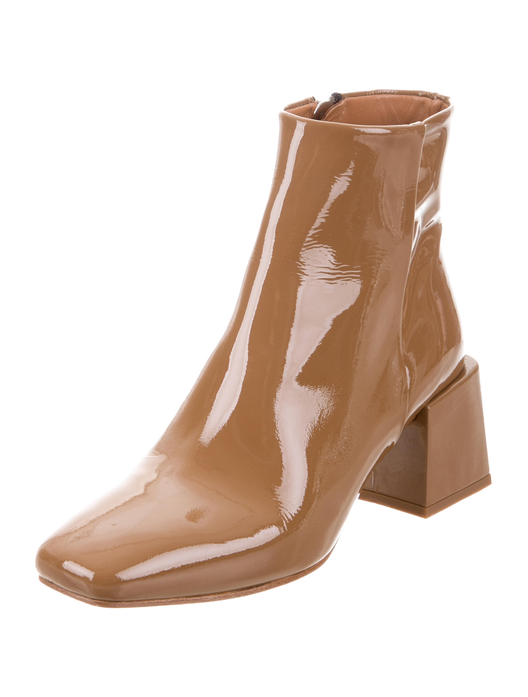 LOQ Patent Leather Round-Toe Ankle Boots cost sale online with paypal online cheap view CzTkzBlZ