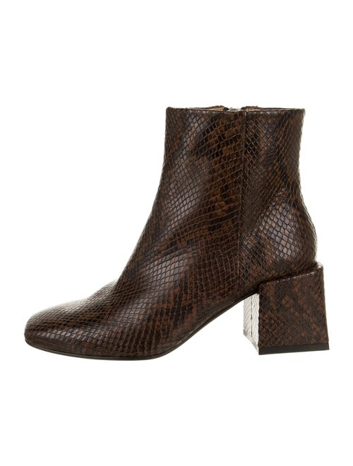 LOQ Embossed Snakeskin Boots Brown