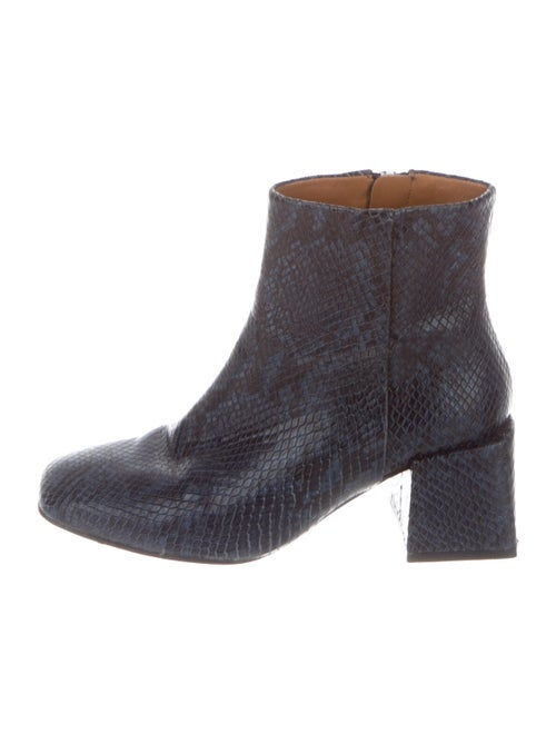 LOQ Snakeskin Boots Blue