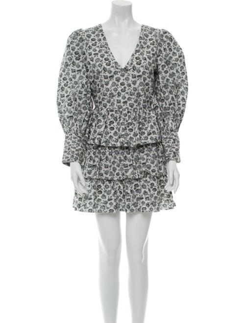LoveShackFancy Floral Print Mini Dress