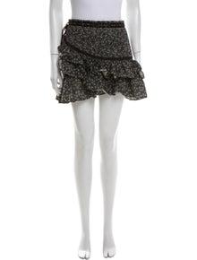 LoveShackFancy Floral Print Mini Skirt