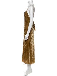 LoveShackFancy V-Neck Long Dress