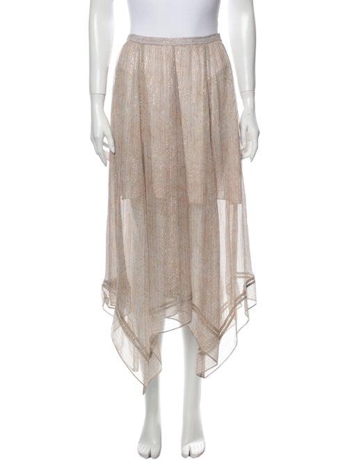 LoveShackFancy Silk Midi Length Skirt