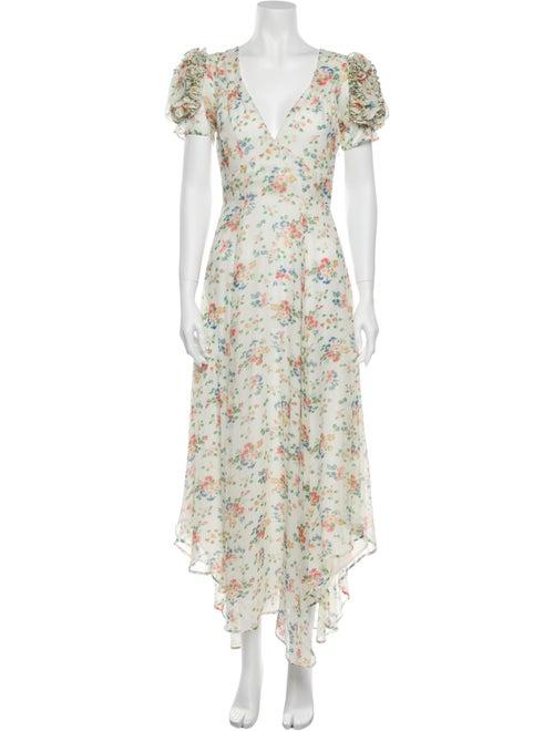 LoveShackFancy Silk Long Dress White
