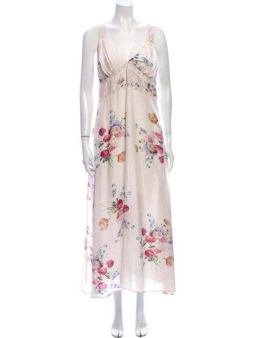 LoveShackFancy Silk Long Dress