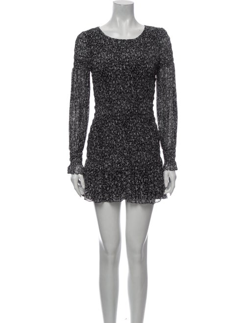 LoveShackFancy Silk Mini Dress Black