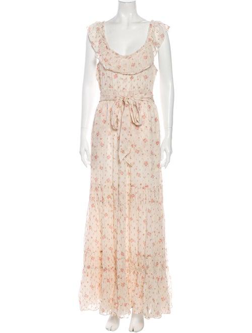 LoveShackFancy Floral Print Long Dress w/ Tags Gol