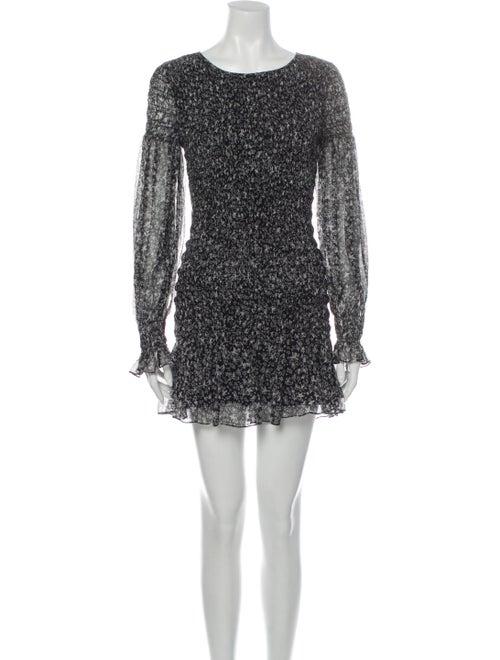 LoveShackFancy Silk Mini Dress Black - image 1