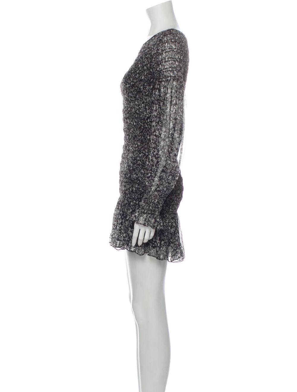 LoveShackFancy Silk Mini Dress Black - image 2