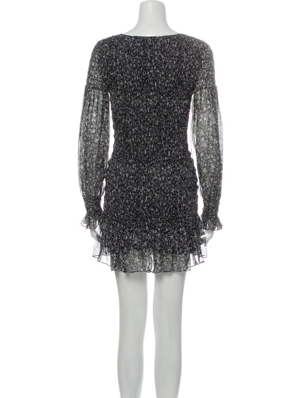 LoveShackFancy Silk Mini Dress Black - image 3