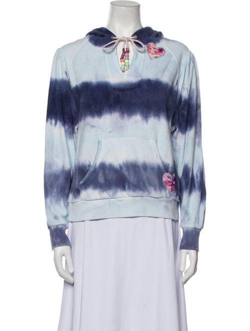 LoveShackFancy Kirby Tie-Dye Print Sweatshirt Blue
