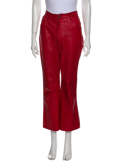 Lovers + Friends Leather Wide Leg Pants Red