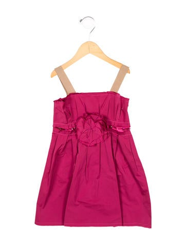 Lanvin Petite Girls' Jewel-Embellished A-Line Dress w/ Tags None