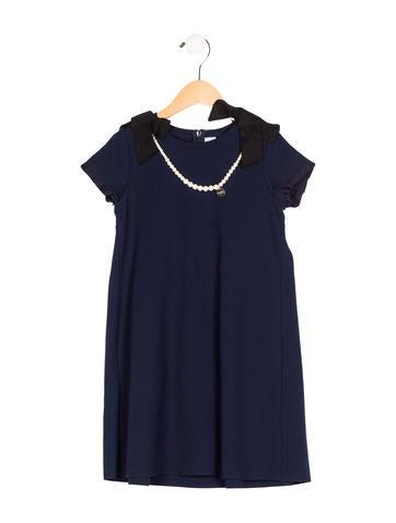 Lanvin Petite Girls' Embellished Shift Dress None