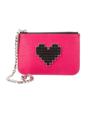 Les Petits Joueurs Leather Heart Coin Pouch None