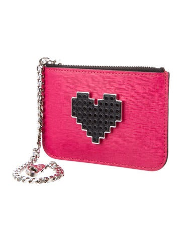 Leather Heart Coin Pouch