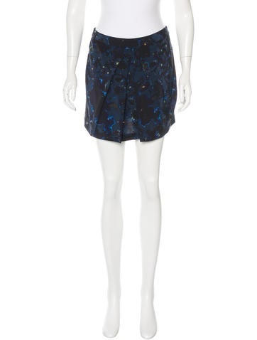 Les Petits Joueurs Abstract Print Silk Skirt None