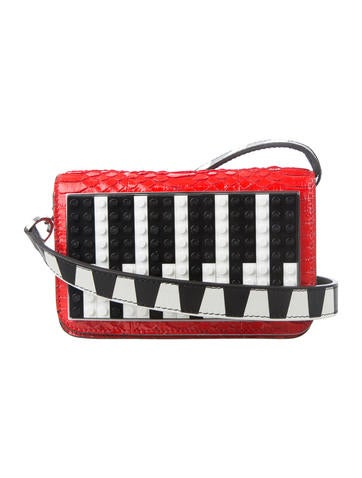 Les Petits Joueurs Micro Janis Snakeskin Piano Clutch None