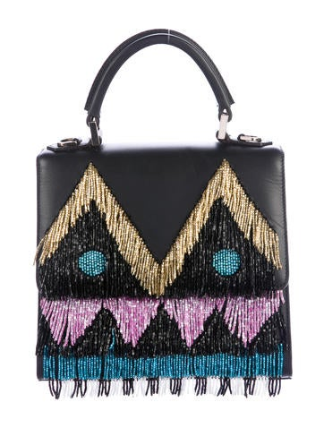 Les Petits Joueurs Mini Alex Disco Fringed Handle Bag None