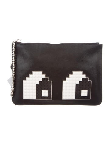 Les Petits Joueurs Eyes Small Envelope Clutch w/ Tags None