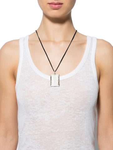Carved Crystal Pendant Necklace