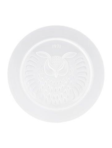 Lalique Vintage Hibou Plate None