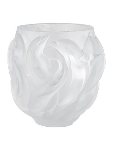 Lalique Dauphins Crystal Vase