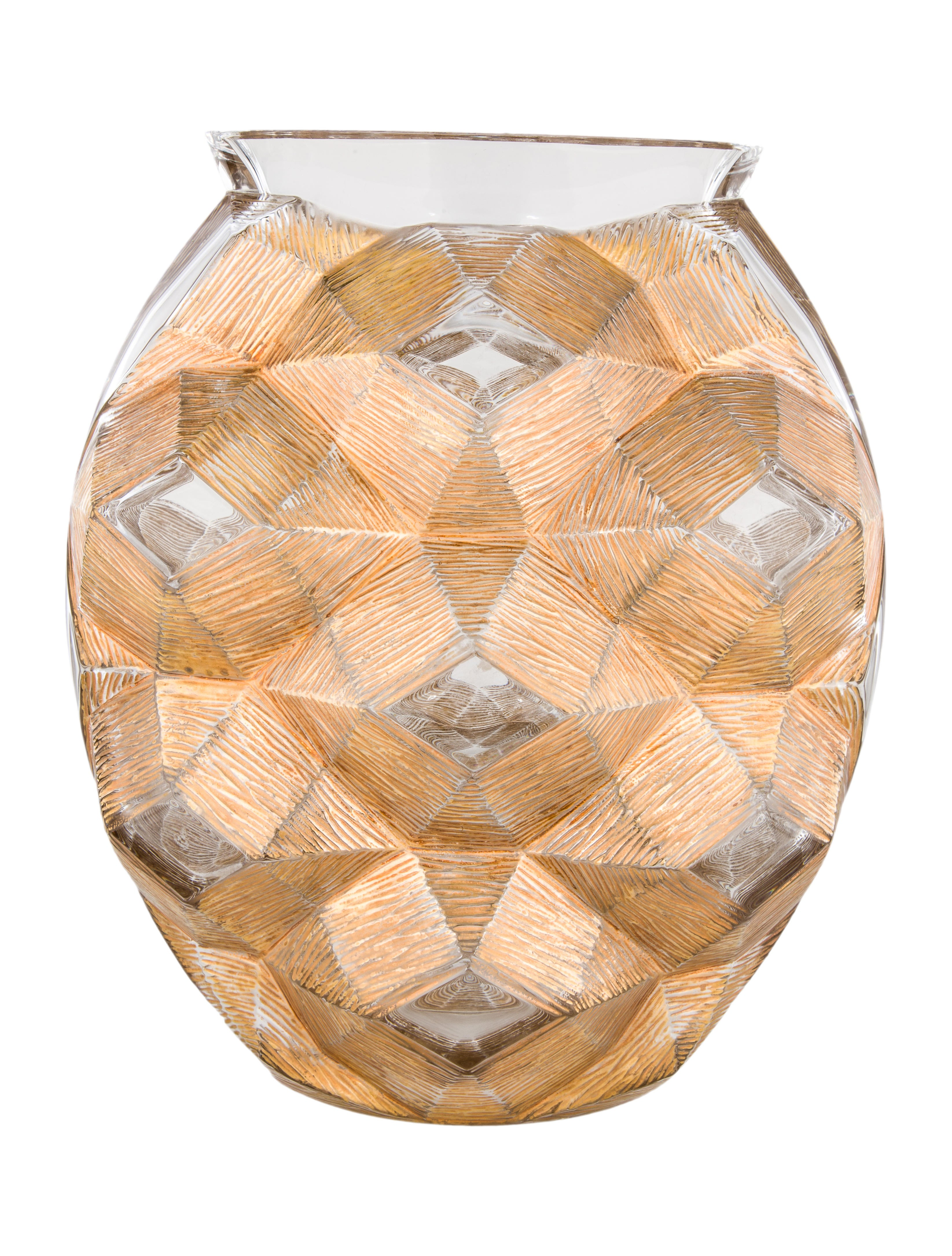 Lalique Tortue Crystal Vase Decor And Accessories