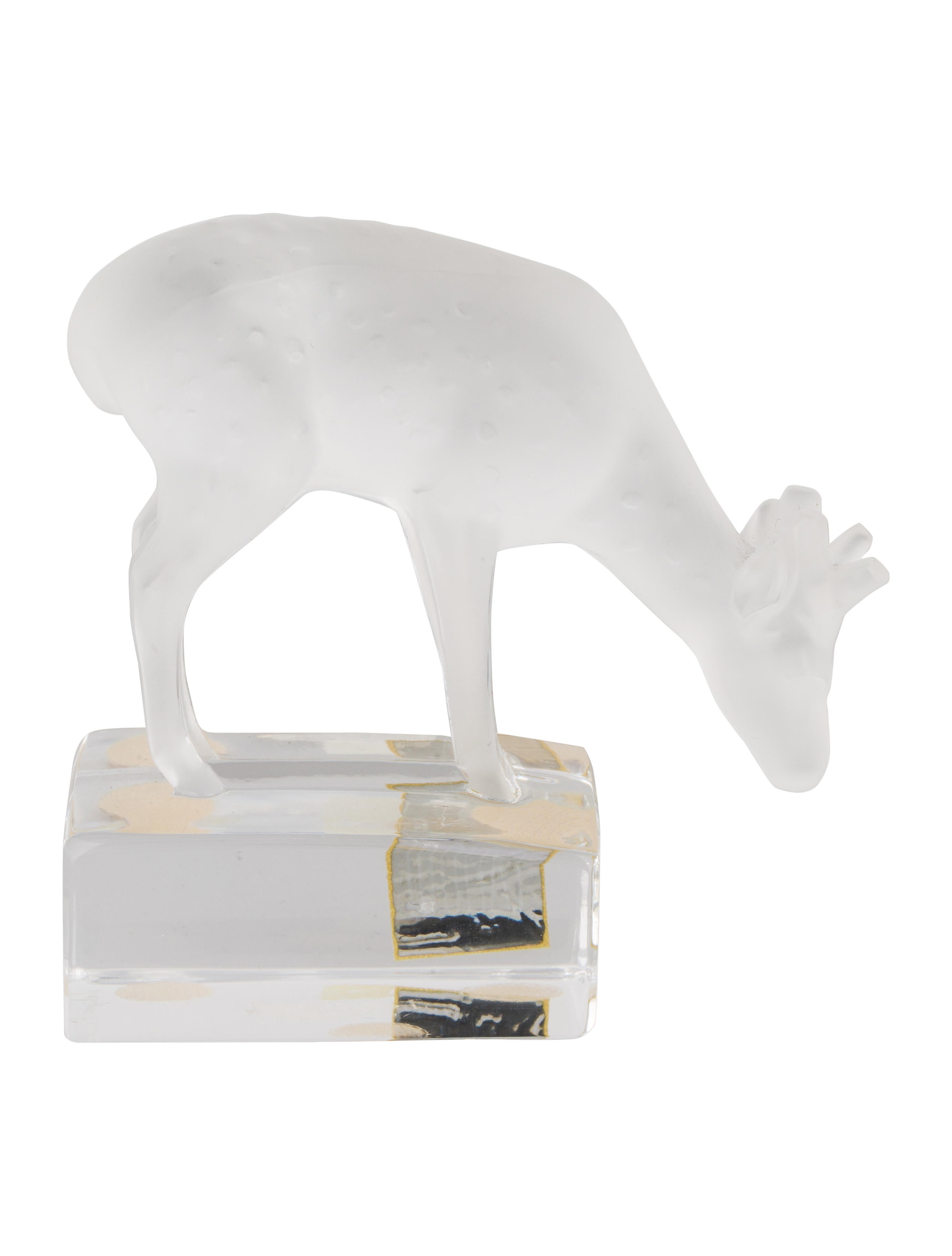 Lalique Crystal Deer Figurine Decor And Accessories