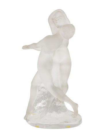 Lalique Two Dancers Sculpture None