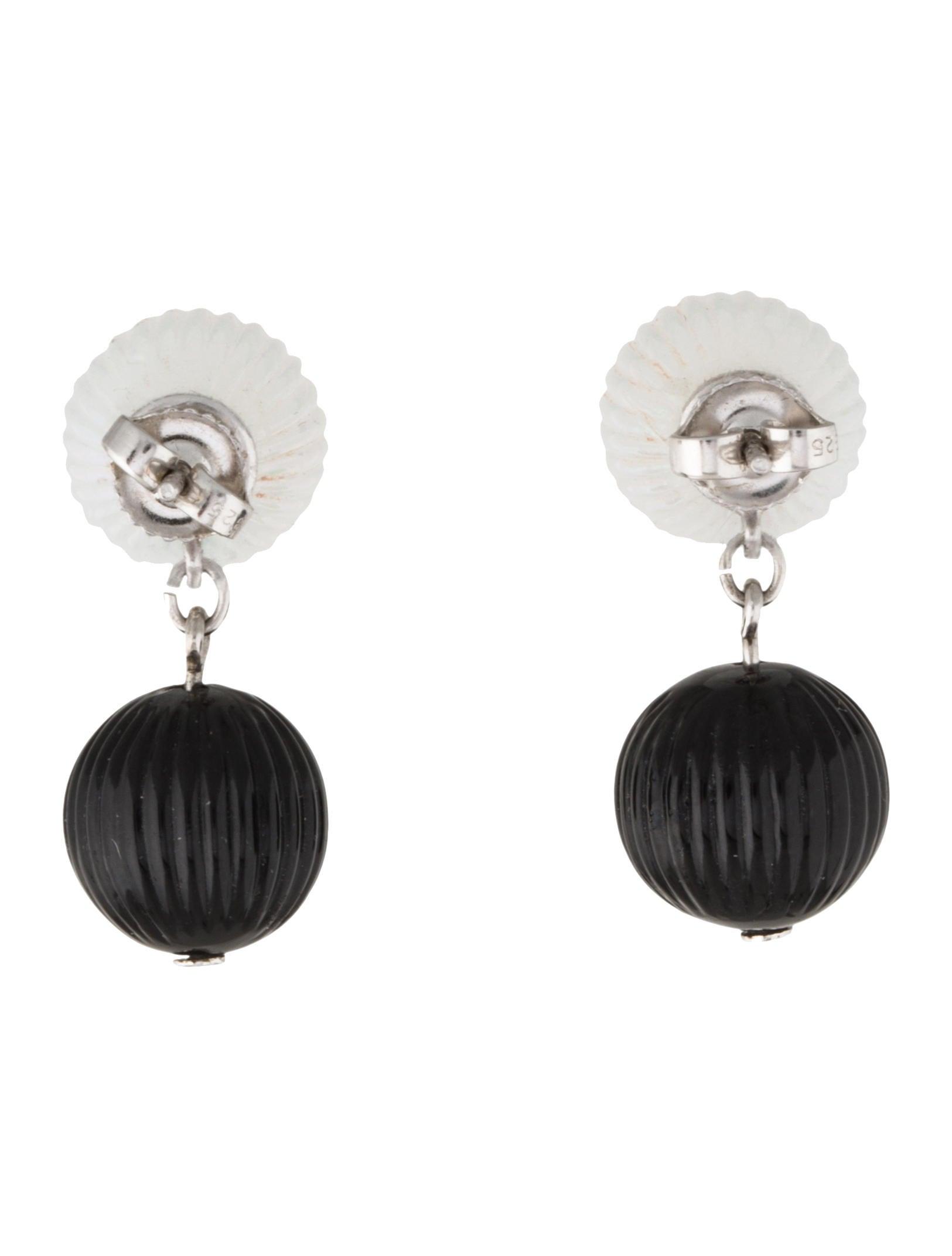 Lalique vibrante drop earrings earrings wlq22227 the for Table vibrante