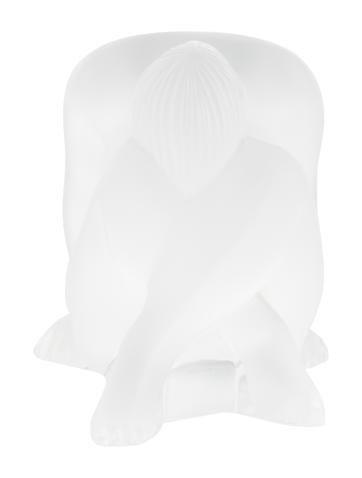 Lalique Seated Nude Figurine None